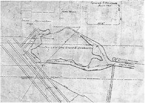 1909 Chutes Cave Survey Courtesy of Greg Brick